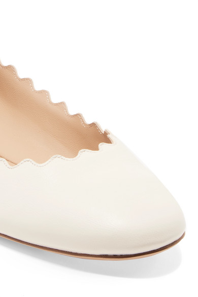 Chloé Lauren Ballerinas aus Leder mit Wellenkante Auslass Heißen Verkauf xRRdPbQ