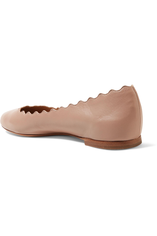Chloé Lauren scalloped leather ballet flats