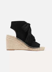 Chloé Harper lace-up suede espadrille wedge sandals