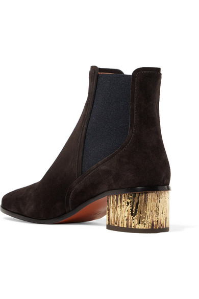 Chloé Qassie Chelsea Boots aus Veloursleder Komfortable Online-Verkauf 1Q1c3