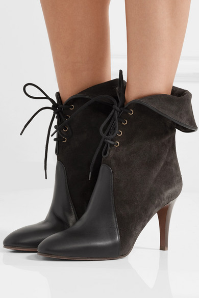 848c10e140 Kole Palmer suede and leather ankle boots