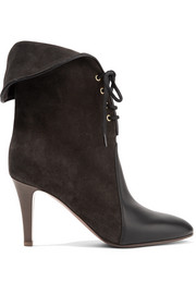 Chloé Kole Palmer suede and leather ankle boots