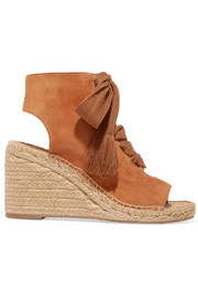 Harper lace-up suede espadrille wedge sandals