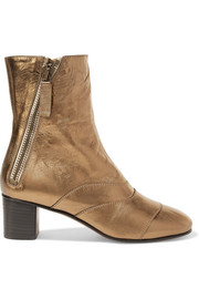 Chloé Lexie metallic leather ankle boots