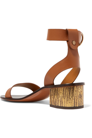Chloé Qassie Leather Sandals Popular Free Shipping Sale Online Discount Official Xkv2kx