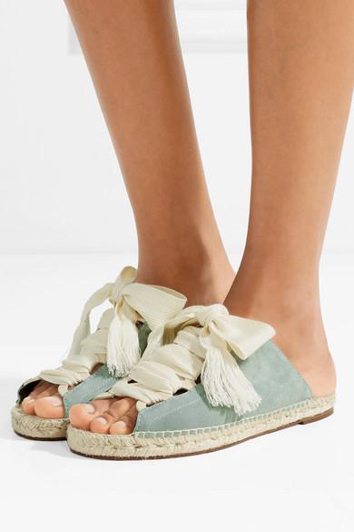 d18ae4318 Chloé | Harper lace-up suede sandals | NET-A-PORTER.COM