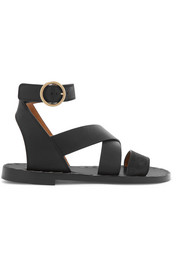 Chloé Quinty suede and textured-leather sandals
