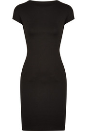 Open-back stretch-jersey mini dress