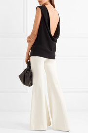 Stretch-jersey flared pants