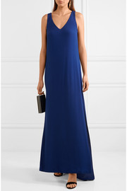 Twist-back jersey gown