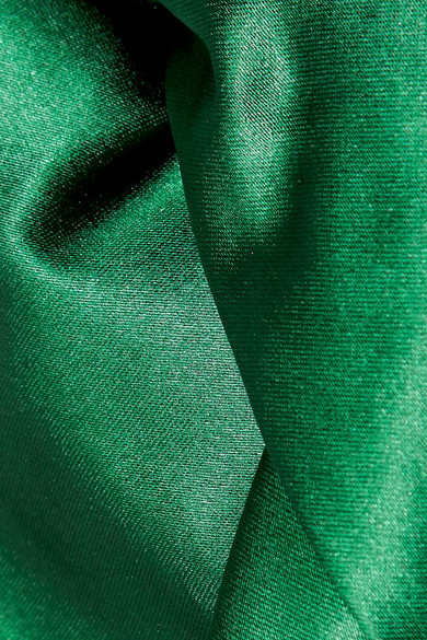 Rosetta Getty Bluse aus Stretch-Satin mit Knotendetails