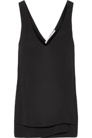 Twist-back crepe tank