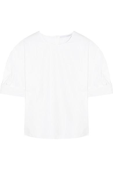 Rosetta Getty Bluse aus Baumwollpopeline mit Knotendetail
