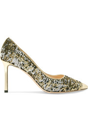 Jimmy Choo Romy 85 sequined leather pumps
