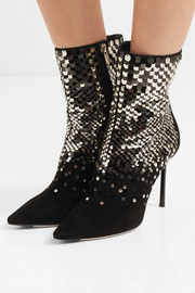 Jimmy Choo 100 embellished suede ankle boots