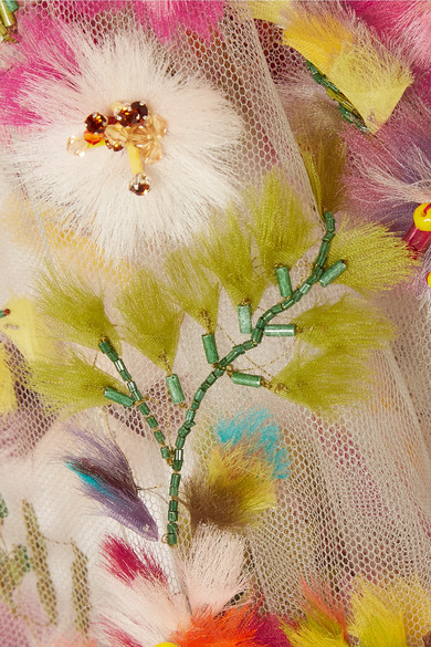 001fac9b Marchesa | Embellished appliquéd tulle gown | NET-A-PORTER.COM