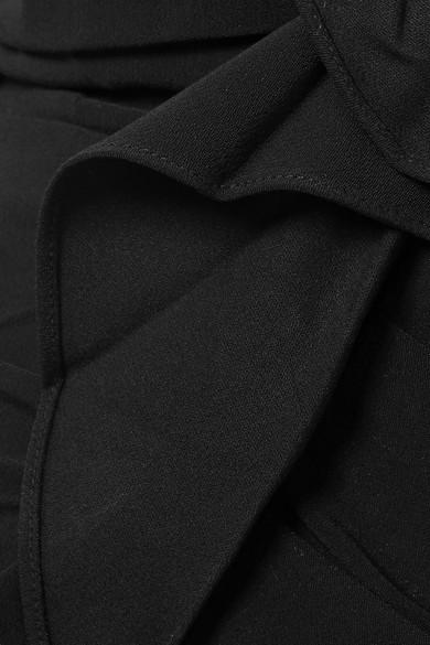 Veronica Beard Bellamy asymmetrisches Oberteil aus Crêpe mit Volants