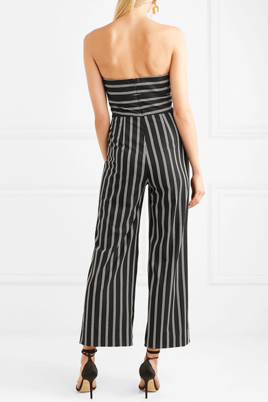 fce21a28077 Veronica Beard. Cypress strapless striped crepe de chine jumpsuit. £310.  Play