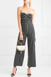 Cypress strapless striped crepe de chine jumpsuit