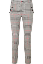Farrow checked crepe skinny pants