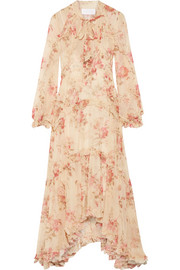 Zimmermann Corsair ruffled floral-print silk-georgette midi dress