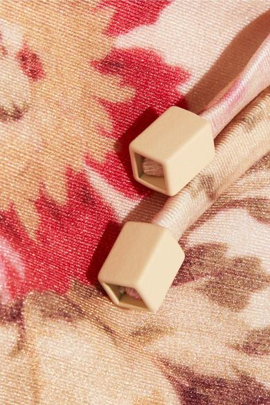 Zimmermann Corsair Triangel-Bikini aus Baumwolle in Häkeloptik und floral bedrucktem Material