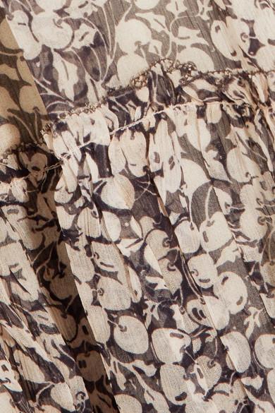 Zimmermann Prima schulterfreies Minikleid aus bedrucktem Seidenkrepon
