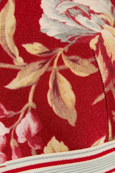 Zimmermann Corsair Triangel-Bikini-Oberteil mit Blumenprint