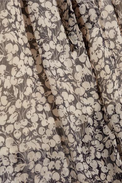 Zimmermann Hose mit weitem Bein aus bedrucktem Seidenkrepon