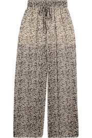 Zimmermann Printed silk-crepon wide-leg pants