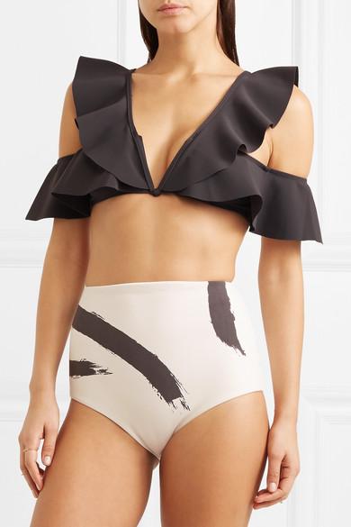 Zimmermann Bedruckter Bikini mit Volants