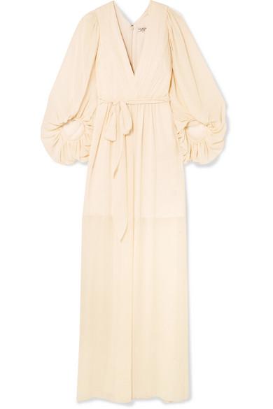 Halston Heritage Fortuny Robe aus Chiffon mit Plissee