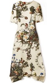 Adam Lippes Floral-print wool midi dress