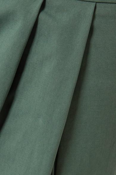 Adam Lippes Culottes aus Stretch-Baumwollpopeline mit Falten