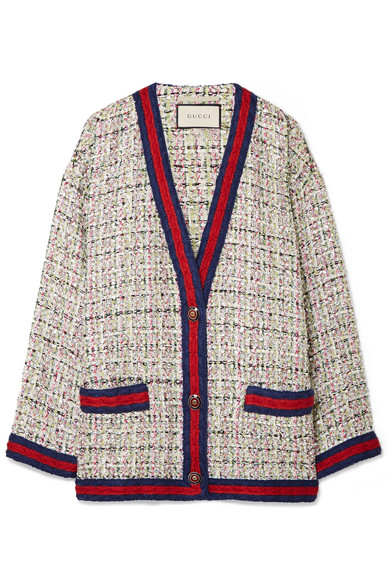 186f9f35eda3ce Gucci | Oversized crystal-embellished tweed jacket | NET-A-PORTER.COM