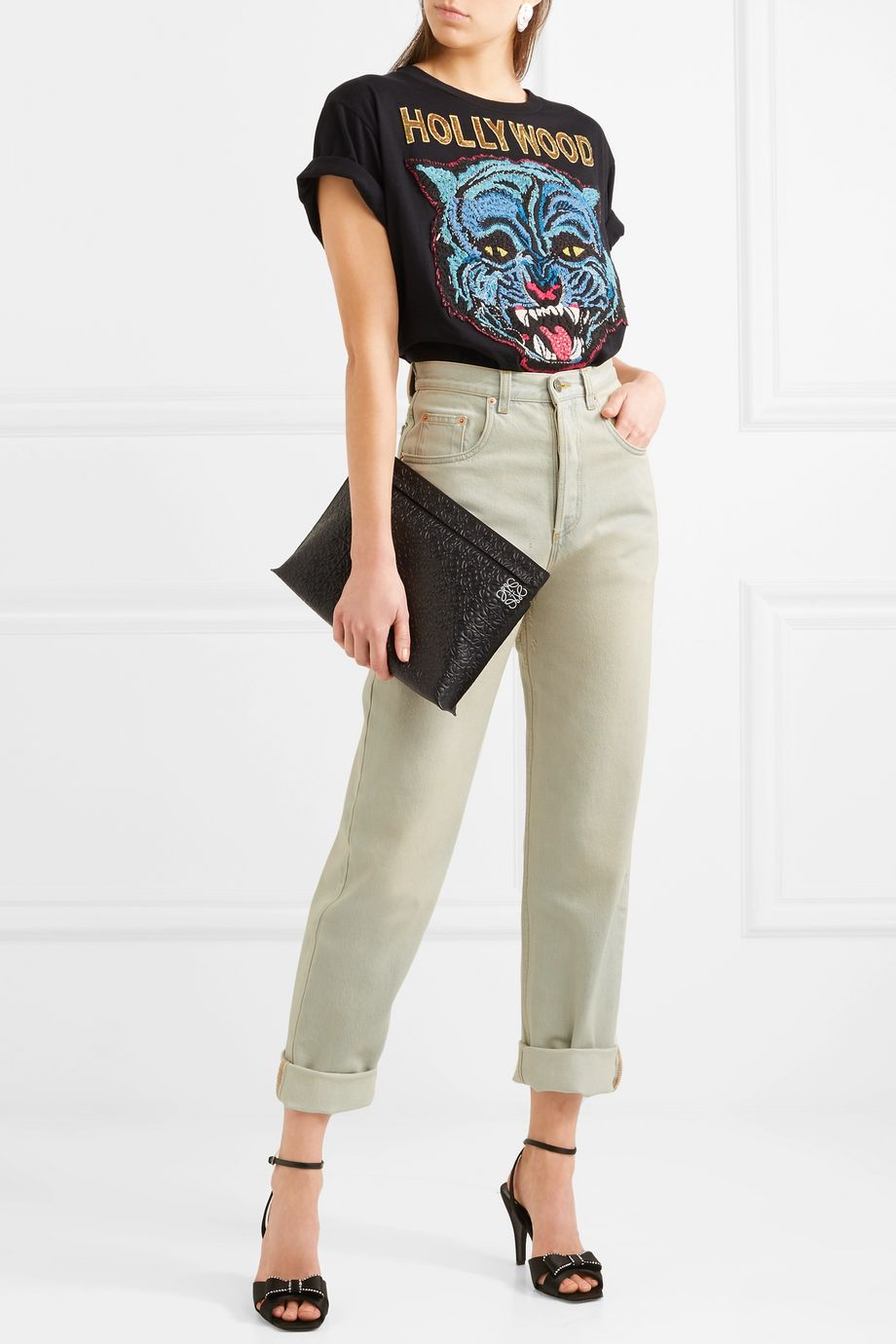 Gucci Printed high-rise straight-leg jeans