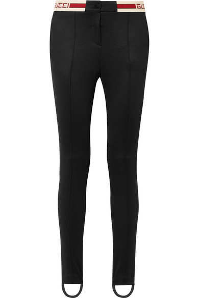 8bba71a523b Gucci. Striped tech-jersey stirrup leggings