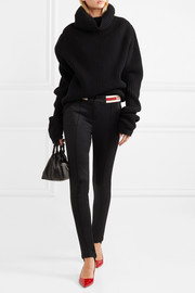 Gucci Striped tech-jersey stirrup leggings