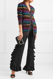 Gucci Ruffled wool and mohair-blend flared pants