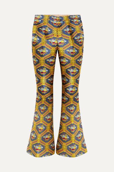 JACQUARD FLARED PANTS