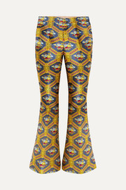 Gucci Jacquard flared pants