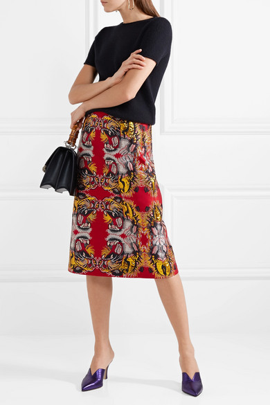 Gucci. Jacquard midi skirt