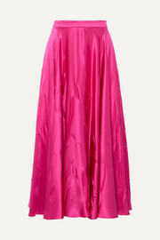 Gucci Silk-blend satin midi skirt