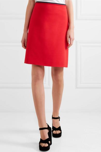4696fb43b6 Shoptagr   Silk And Wool Blend Mini Skirt by Gucci