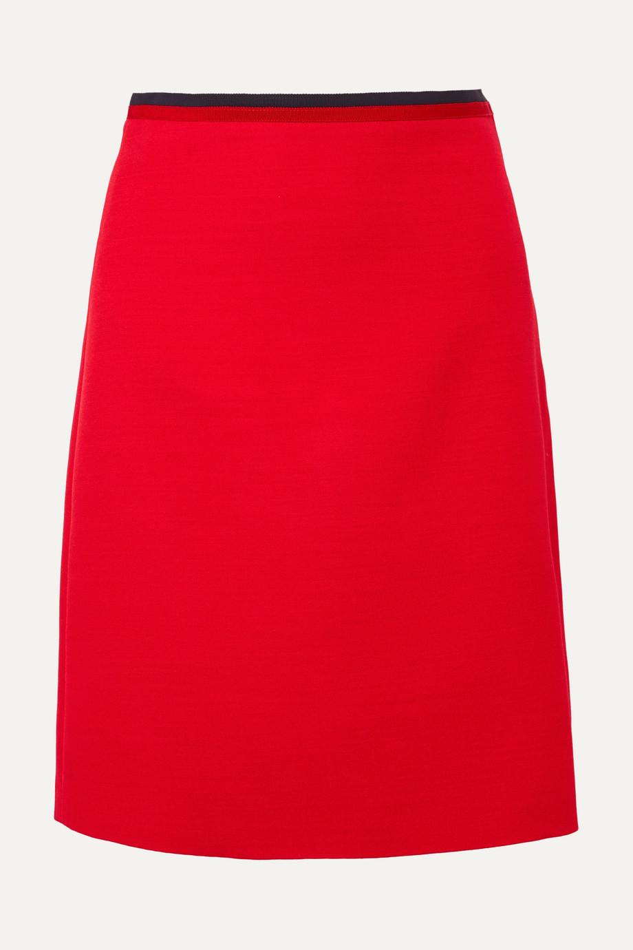 Gucci Silk and wool-blend mini skirt