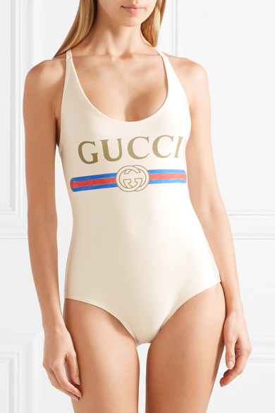 a454961bebbc5 Gucci | Printed swimsuit | NET-A-PORTER.COM