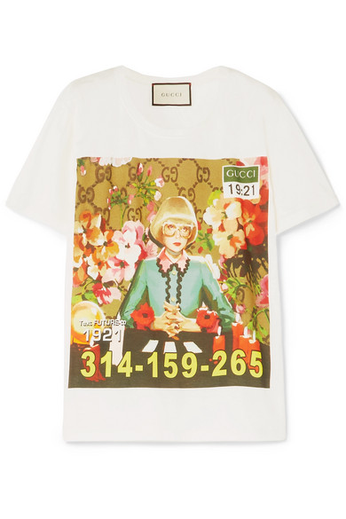 Gucci - Oversized Printed Cotton-jersey T-shirt - White