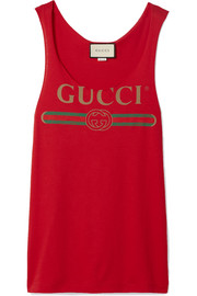 Gucci Printed cotton-jersey tank