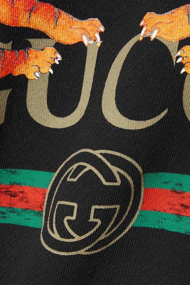 Gucci Bedrucktes Oversized-Sweatshirt aus Baumwoll-Jersey Online Günstig Online Online-Shopping Hohe Qualität Freies Verschiffen Klassische Abstand Rabatt aacoI9