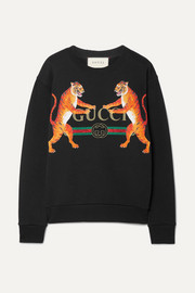 Gucci Oversized printed cotton-jersey sweatshirt